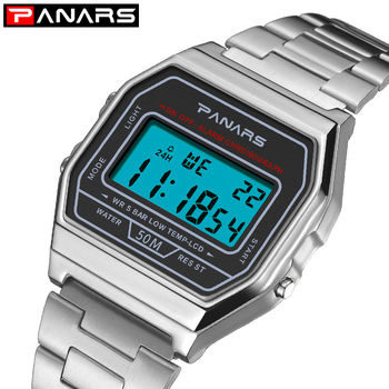 PANARS Saatleri High Quality Fashion Waterproof Men LED Digital Watch Luxury reloj hombre digital deportivo agua - discount item  30% OFF Men's Watches