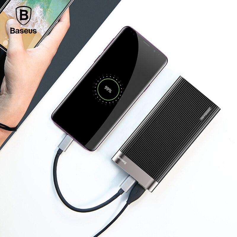 Baseus 20000 mAh Type C PD Chargeur Rapide + QC3.0 Rapide Chargeur de batterie externe Pour iPhone X Samsung Huawei Externe chargeur de batterie portable