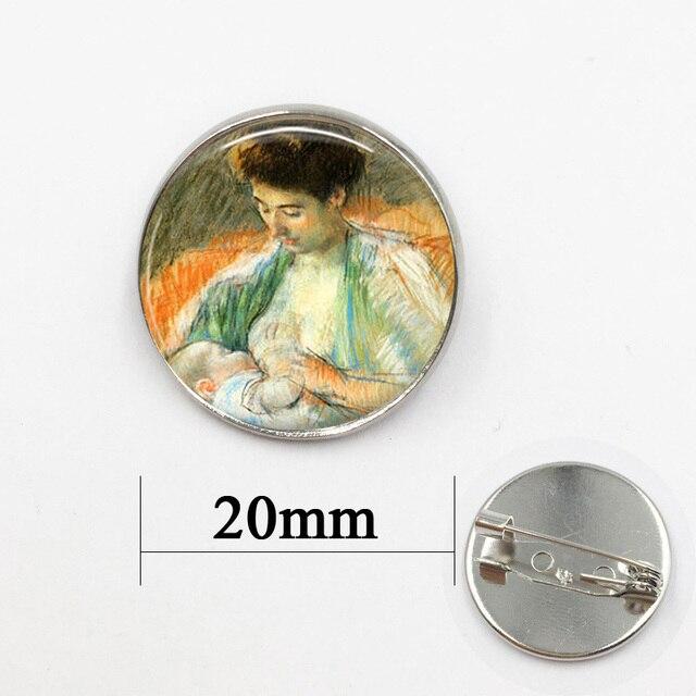 Silver brooch 20mm