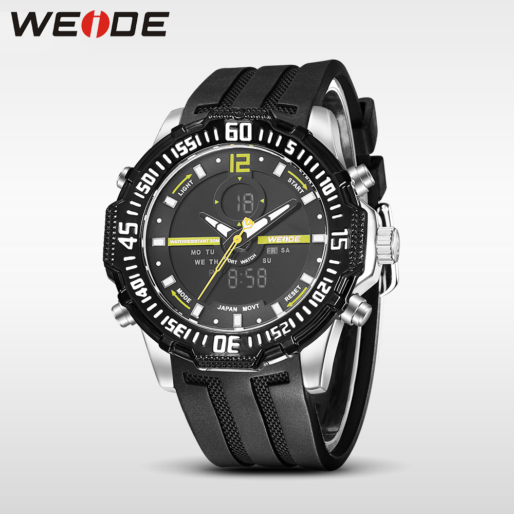 Weide new genuine LCD watch luxury brand quartz sport watches analog alarm clock men relogio masculino automati water resistant weide 2017 new men quartz casual watch army military sports watch waterproof back light alarm men watches alarm clock berloques