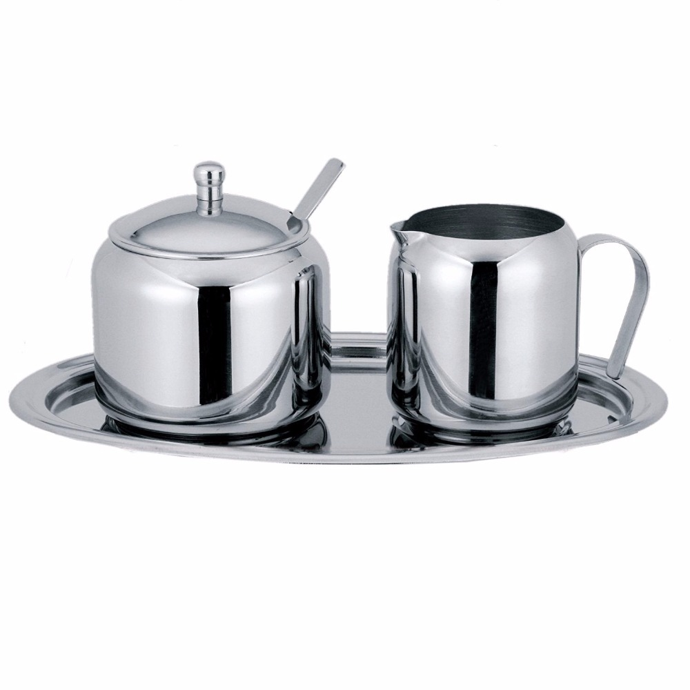 compare prices on metal sugar and creamer sets online shopping  - piece cream and sugar setthe set includes a covered sugar bowl with