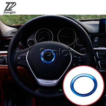 M Power Car Styling Steering-Wheel Circle Covers New 3D Aluminium Stickers Case For BMW E60 E46 E90 E36 E34 E39 E92 Accessories image