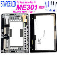 STARDE LCD for Asus Memo Pad ME301 ME301T 5280N K001 LCD Display Touch Screen Digitizer Assembly Frame N101CG-L21 LCD Parts