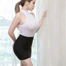 Sexy Women Tight Pencil Cute Skirt Ice Silk See Through Micro Mini Skirt Transparent Night Club Skirt Fantasy Erotic Wear F7