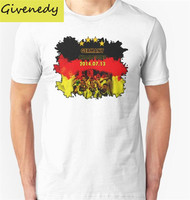 Free Shipping Germany Team Four Stars printing 2016 New Summer Design cotton short sleeve O-Neck T-Shirt  Fashion Tee Shirts