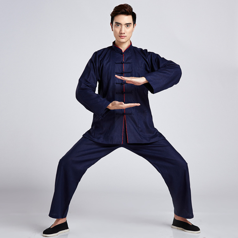 3fdc5a82b Mens High Quality Tang Suit Autumn Shirt + Pants Sets Taiji Tai Chi  Clothing Bruce Lee Vintage Kung Fu Suit Martial Art Uniform