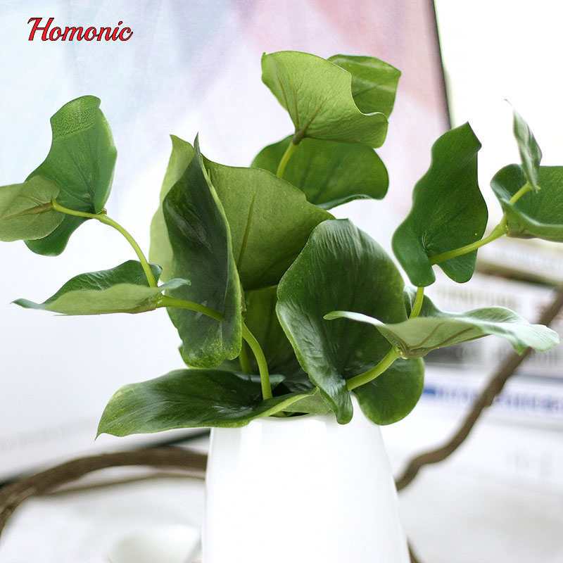 5 개 녹색 나비 인공 잎 식물 실크 꽃 웨딩 꽃꽂이 홈 - 휴일 파티 용품