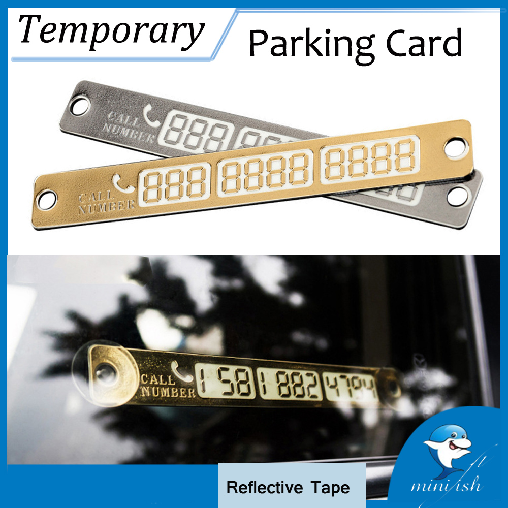 Car Styling Phone Number Card Night Luminous Auto Accessories Temporary Parking Card Stickers