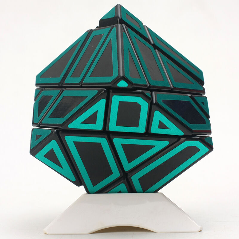 Ghost Irregular Magic Cube Skew Twist Puzzle Stickers Intelligence Toy Black Green Educational Toys For Brain Trainning