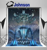 Organic Alien Architecture Futuristic Structure Hoovering Spider backdrop Vinyl cloth Computer print wall background