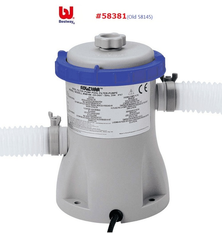 58381 Bestway 330gal Flowclear Filter Pump for 1100-8300 L Swimming Pool Water Circulating Filter Swimming Pool Water Cleaner
