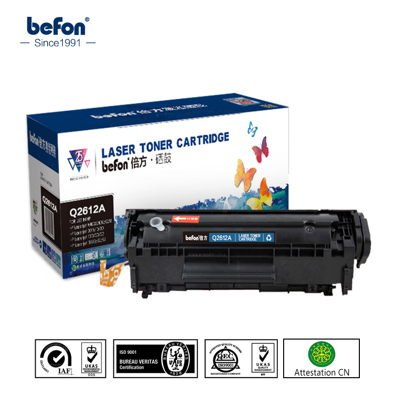 befon Napolnjena Q2612A 12A 2612a 2612 Združljiva toner kartuša za HP LaserJet 1010 1012 1015 1018 1020 3010 3015 3020 3030