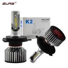 2 шт. HB3 Светодиодный лампа 72 W фары для 8000LM светодиодный светильник K2 светодиодный фар 9012 H1 H11 H8 H7 HB3 HB4 H4 головного света Авто Запчасти автомобильные аксессуары