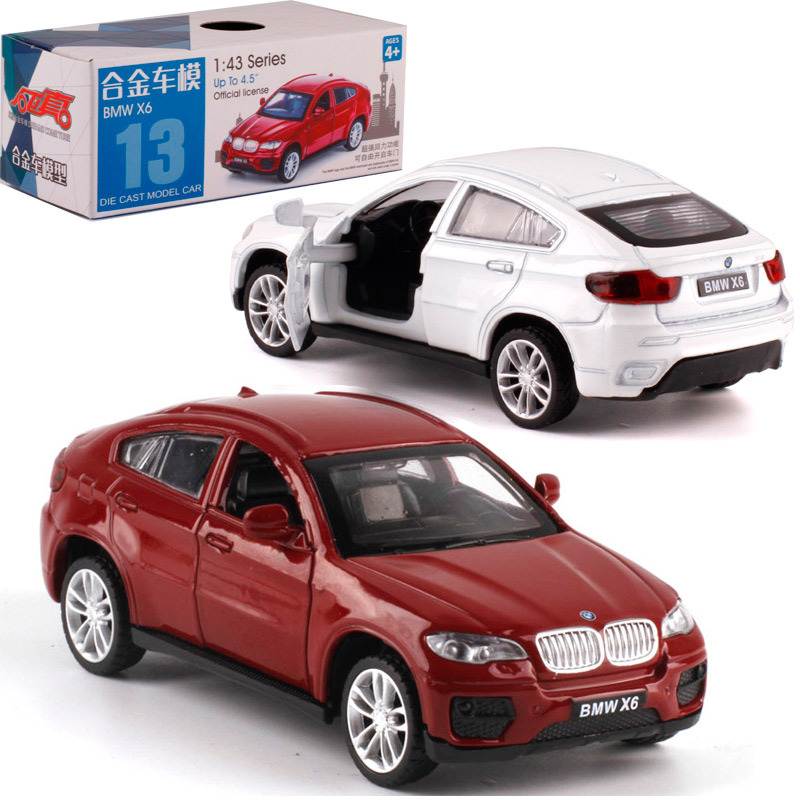 CAIPO 1:43 BMWX6 Alloy Pull-back Vehicle Model Diecast Metal Model Car For Boy Toy Collection Friend Children Gift