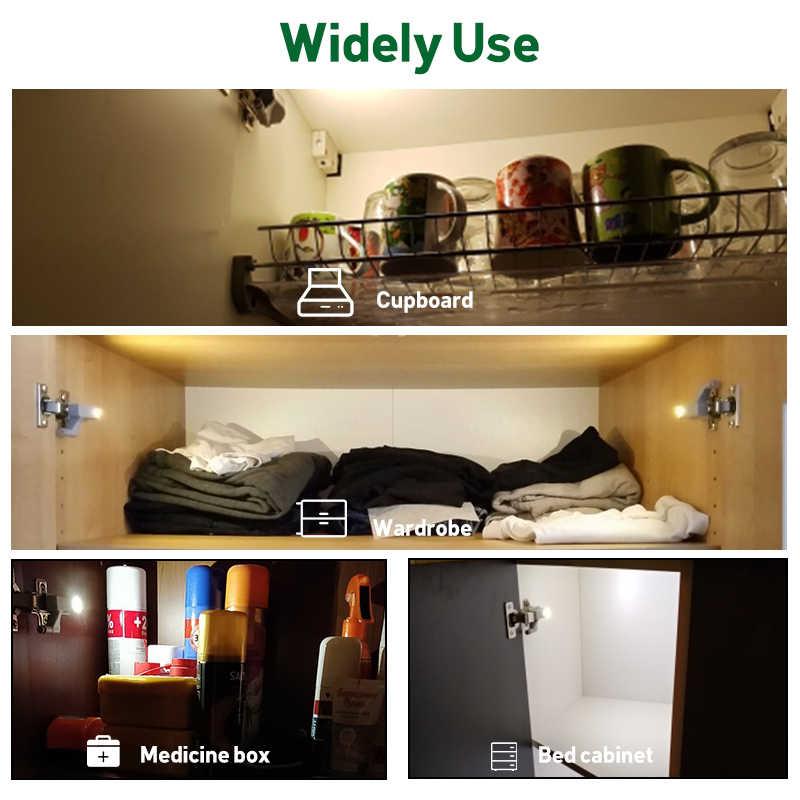 Goodland светодиодный светильник под шкаф универсальное освещение для гардероба сенсор светодиодный Armario внутренняя шарнирная лампа для шкафа кухни