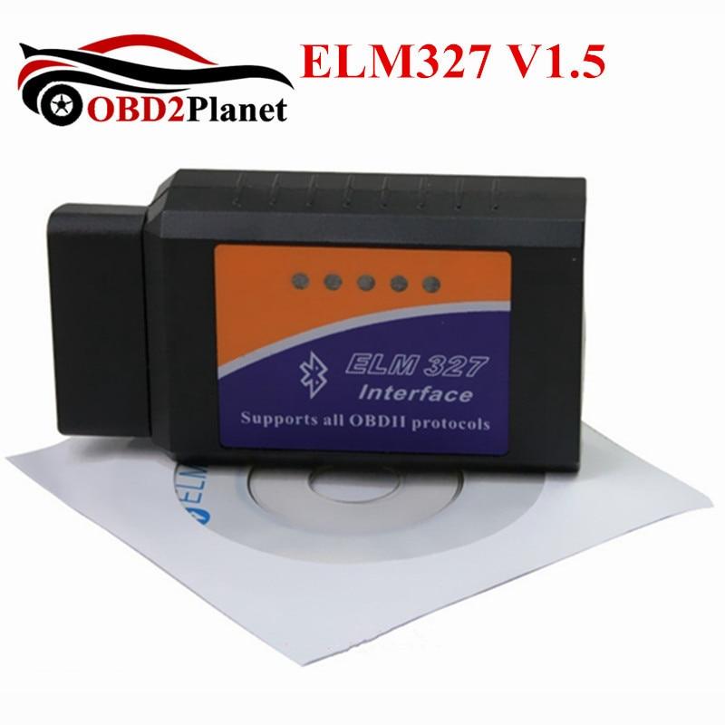 OBD2 ELM327 V1.5 Bluetooth Avec PICI8F25K80 De Diagnostic Scanner HH OBD Vgate Bluetooth ELM 327 Outil D'analyse Lecteur de Code De Voiture Testeur
