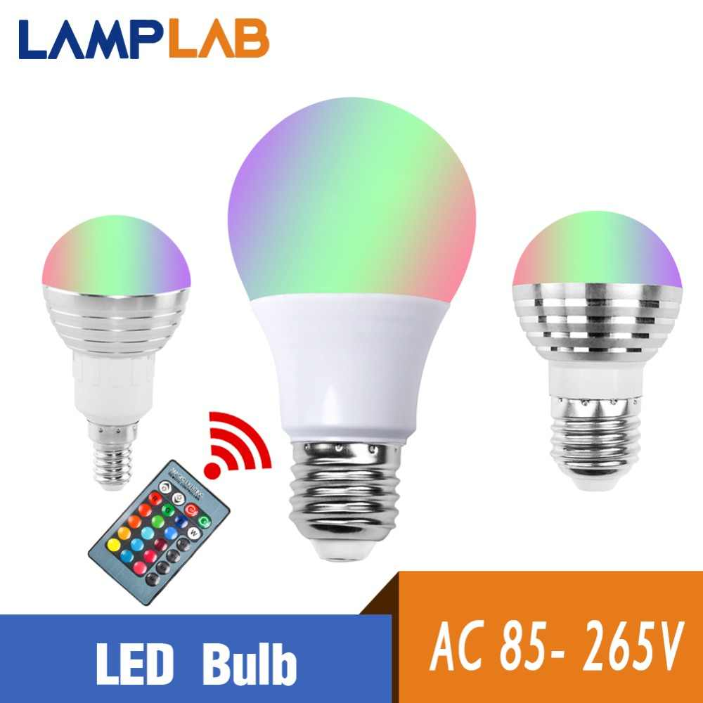 Led Bulbs Rgb Led Bulb E27 E14 16 Color Changing Light Candle Bulb Rgb Led Spotlight Lamp Ac85 265v E27 E14 Rgb Led Bulb Remote Control Lamp Color Magic Spot Light Holiday Bar 3w 5w 10w Dimmable 24key Led Night Light 110v 220v