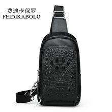 5cd179ddb753 FEIDIKABOLO 3D Крокодил для мужчин груди пакет кожа путешествия мужчин's  сумка через плечо мужской сумка сзади