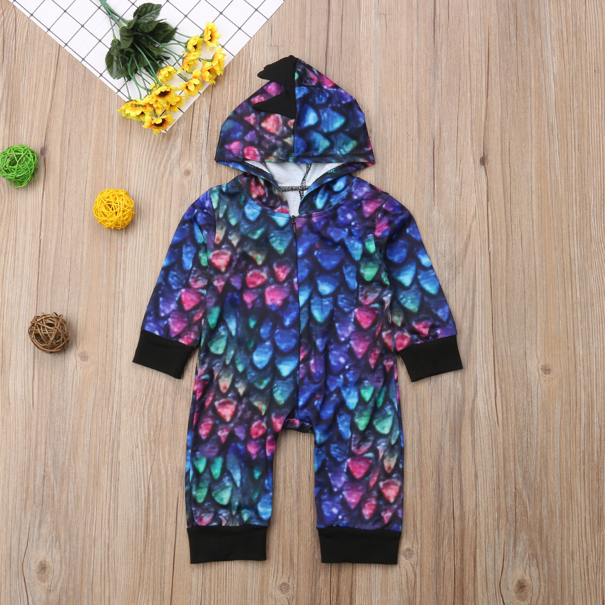 Newborn Baby Girl Boy Clothes Colorful Cute Animals Romper Long Sleeve Warm Cute Jumpsuit Outfits Baby Boys 0-24M