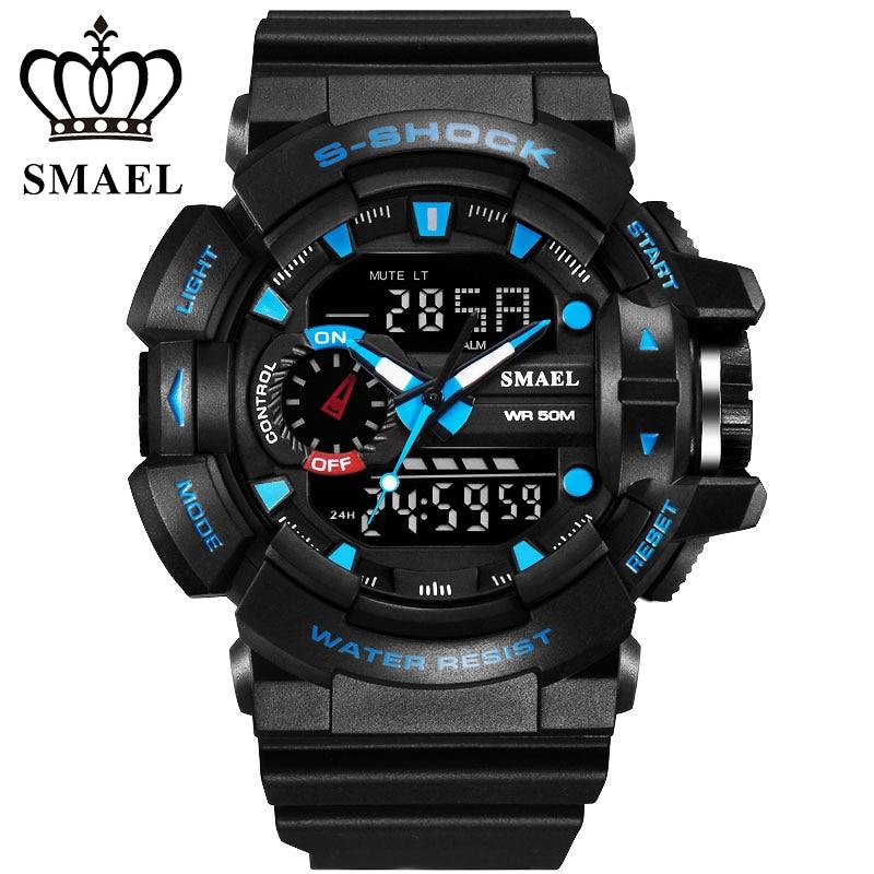 10 PCS 50M Waterproof Mens Sports Watch S Shock Military Watch Digital LED Electronic Wristwatch Male Clock relogio masculino