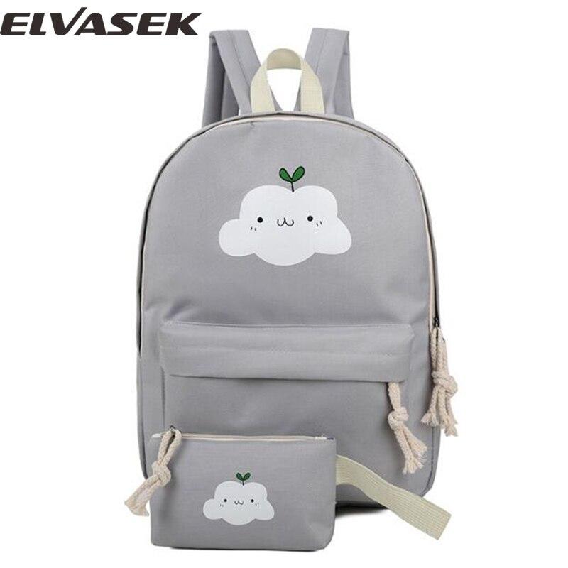 5ffa5521030c8 Elvasek أزياء المرأة حقائب قماش السفر أكياس عالية الجودة الظهر المدرسية  النساء السيدات bolsas عارضة حقيبة LS7457