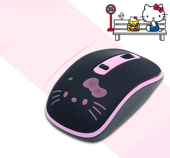 Wireless Mouse Cute Hello Kitty Ultra Thin Computer Mice 1600DPI USB Optical Gaming Mause For PC Laptop kids Girl Gift 3