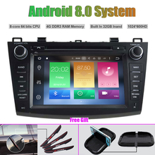 Octa-Core Android 8.0 CAR DVD Player for MAZDA 3 2010-2011 Auto RADIO STEREO GPS navigation