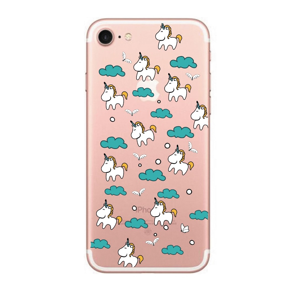Love Chocolate Sauce Rainbow Unicorn Back Soft Silicon Case For iPhone 8 Cases 7 6Plus 6S 5S SE X Flamingo Phone Cases in Half wrapped Cases from Cellphones Telecommunications