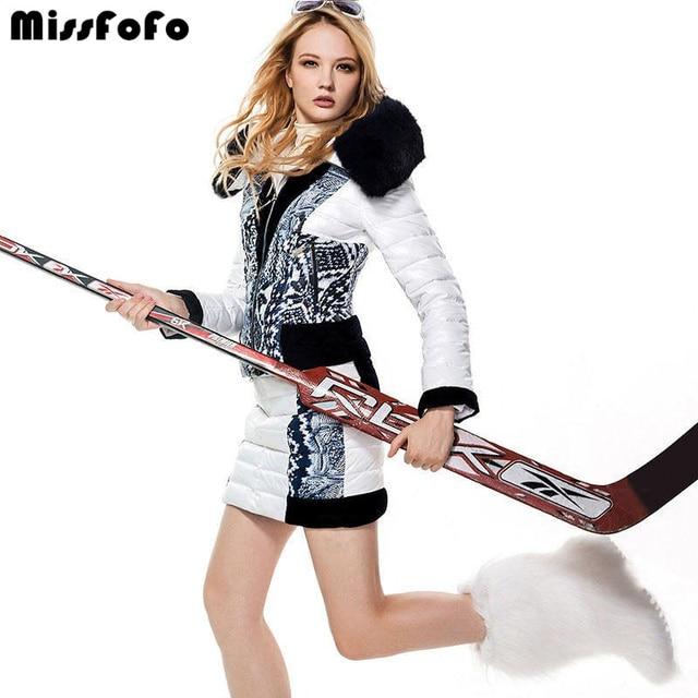MissFoFo женский пуховик CLJ куртка наборы 2 в 1 белый бархат пэчворк короткий пуховик пальто-платье модный пуховик пальто 2XL