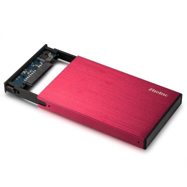 Zheino 2.5 Pulgadas SATA a USB 3.0 Sin Necesidad de Herramientas Externas De Aluminio caja para Disco duro Hdd SSD Caso para para 9.5mm 7mm rojo