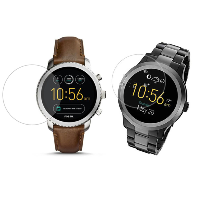 Glass Screen Protector For Fossil Q Wander/Control/Marshal/Venture/Explorist/Sloan/CARLYLE HR/Founder Gen 1/2/3/4/5 Sport Watch