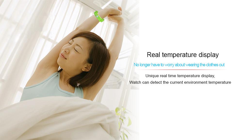 Smart Wristband W5P Smart Bracelet Pedometer Sleep Tracker Temperature Display Smart band Fitness Tracker Smart watch For PC 8
