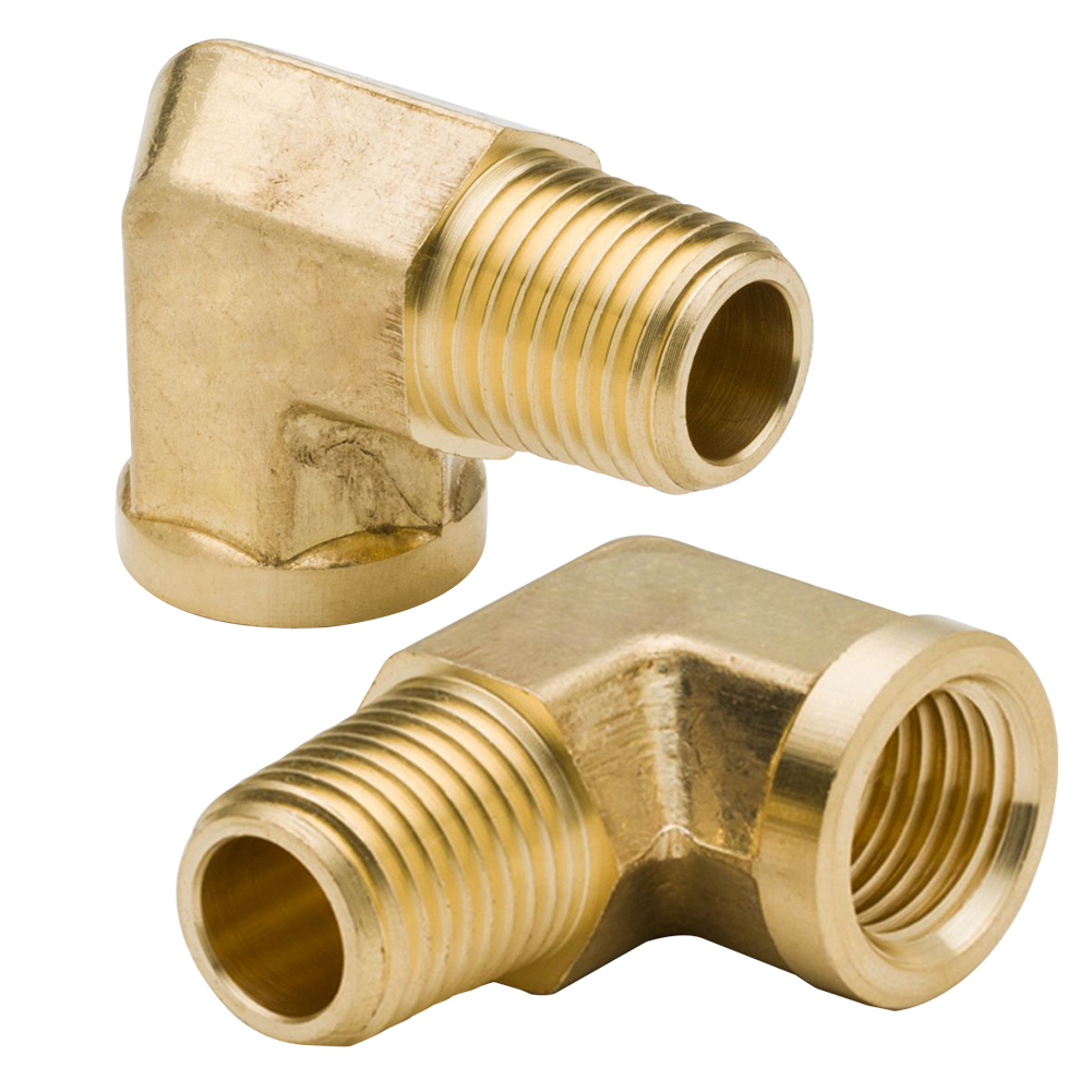 1//2BSP Female to 1//2BSP Male F//M Brass Pipe Fitting 90 Degree Street Elbow