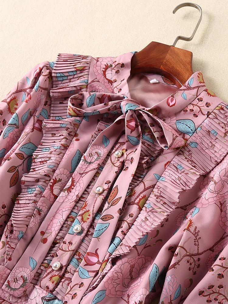 Pétale A Robe Imprimer Nouvelles Empire Vintage Multi Manches Arc Jacquard Mode Automne Femmes Ziwwshaoyu Volants ligne De 2018 Sdvw8R8xq