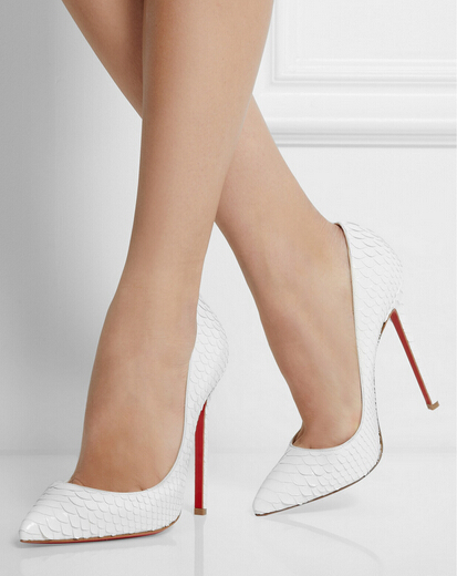 Online Summer Style Y High Heels Shoes Woman Red Bottom Pigalle 120mm Python Spring Women