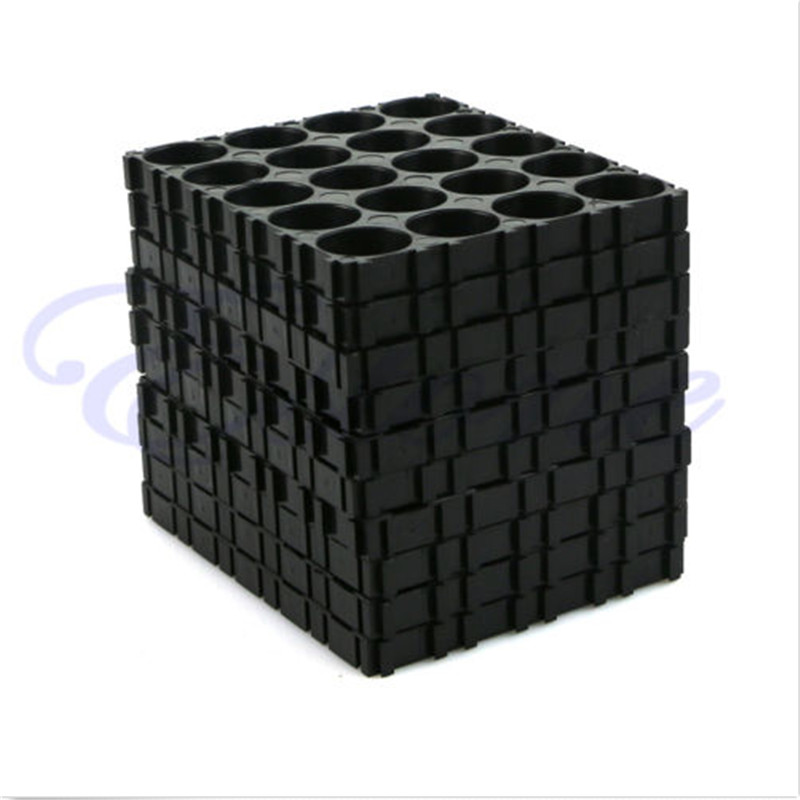 1 Set 10Pcs 18650 Battery 4x5 Cell Spacer Radiating Shell Pack Plastic Heat Holder Black cozistyle plastic shell cpsa1310 black