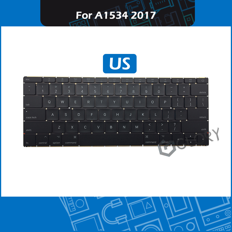 Brand New Laptop A1534 Keyboard US Layout For Macbook Retina 12 A1534 Replacement Keyboard Mid 2017