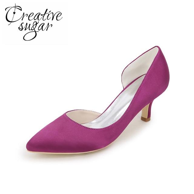 L TC Chaussures Pour Femmes Soie Talon Plat Bout Rond Chaussures Plates Mariagechampagne / argent / Mauve / Bleu / Rouge / Rose / Blanc , white , 44