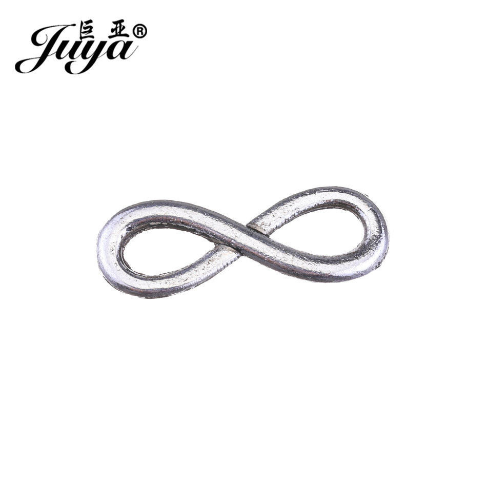 JUYA infinity symbol metal bracelet necklace Component china cheap Connector for Jewelry Making DIY supplier 23x8mm 30pcs CR0076