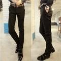 Envío gratis para hombre negro slim fit negocio pantalones de estilo occidental casual traje flaco pantalones para hombre / XK5
