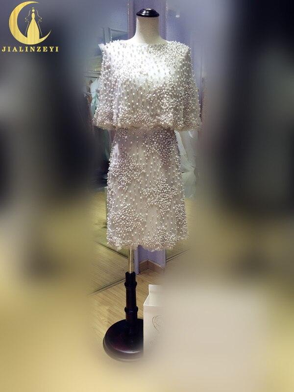 Rhine Реальный образец изображения из двух частей серебристо серый Продажа Полный бисер жемчуг до колена Роскошная Длина Формальные сексуаль