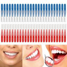 50pcs Disposable Tooth Brush Oral Health Cleaning Tooth Flossing Head Teeth Hygiene Oral