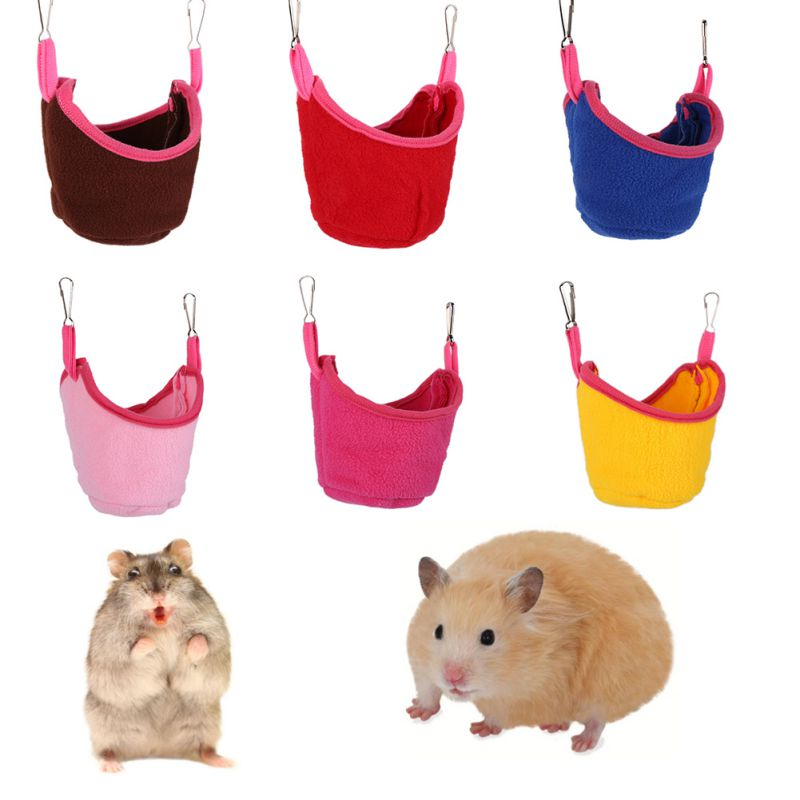 Rat Hamster Bed Hammock Hanging House Boat Shape Bunk Bed House Toys Cage For Glider Sugar Hamster Small Animal Pet Supply