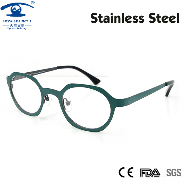 47d0732988 Free Shipping 2016 New Women Retro Vintage Brand Round Eyeglasses Frame  Spring Color Optical Glasses