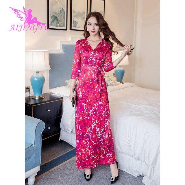 AIJINGYU вечернее платье вечерние платье 2018 элегантные пикантные вечерние Платья для специальных торжеств для Для женщин модные платья FK135