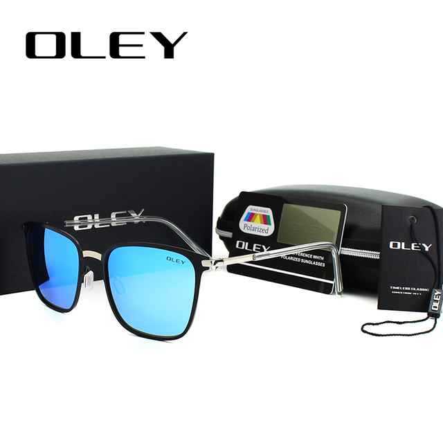 OLEY Unisex Retro óculos de Lente Polarizada Óculos De Sol Do Vintage Óculos  De Sol Para 51af17118a