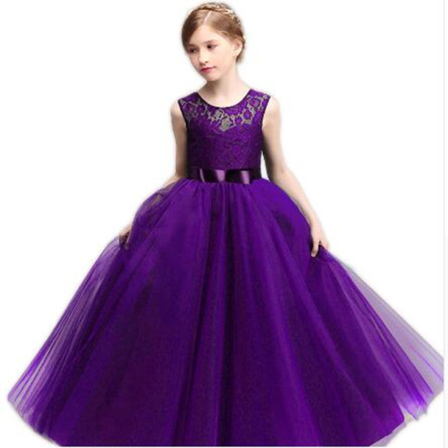 Age 8 10 11 12 14 Year Wedding Dress For Party Wear Children Long Dresses