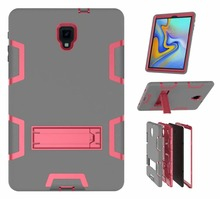 цена на Shockproof Case For Samsung Galaxy Tab A 10.5 2018 T590 T595 SM-T595 T597 Funda Case Heavy Duty Stand Hang Cover Tablet