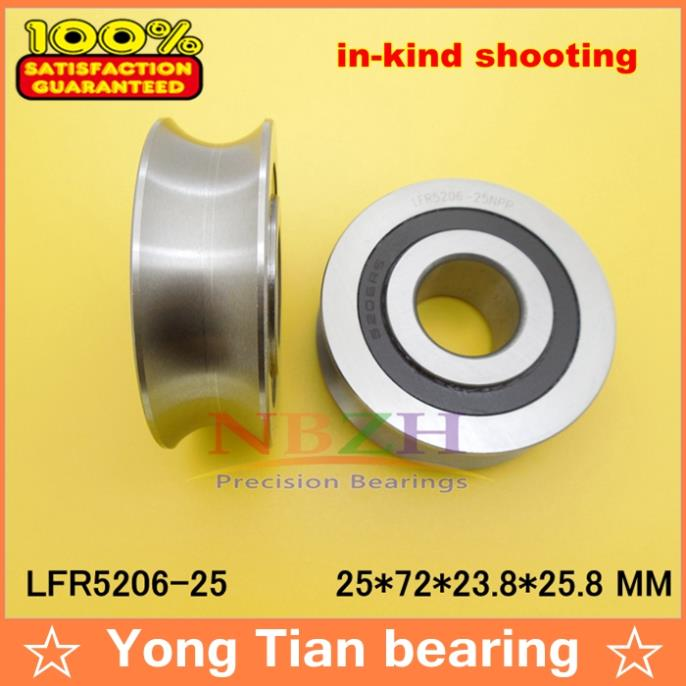 25 MM track LFR5206-25 NPP LFR5206 KDD R5206-25 2RS Groove Track Roller Bearings 25*72*23.8 mm (Precision double row balls) sg15 10 2rs for 10 mm 6mm shaft u groove pulley ball bearings 5 17 8 9 75 mm track guide roller bearing sg5rs