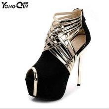 hot deal buy sexy women pumps plus size 35-44 fashion elegant peep toe 14cm high heels  lady woman pumps shoes